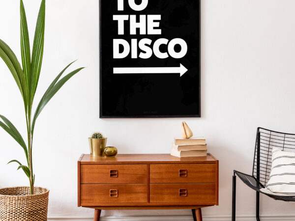 To The Disco Typography Poster in Black