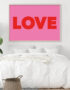 LOVE Typography Poster in Pink & Red