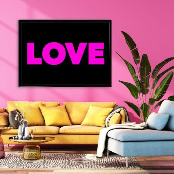 Love art poster print