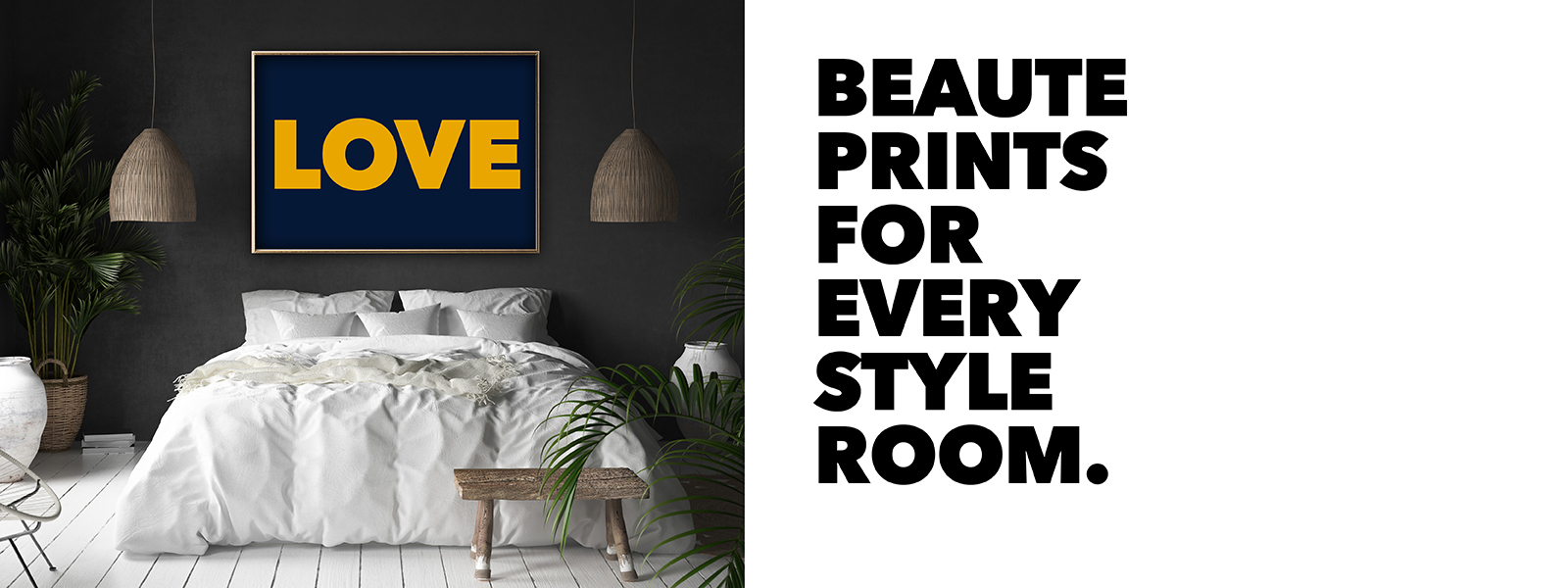 LOVE Beaut prints for every style room. Typography art prints from gallery wall warriors