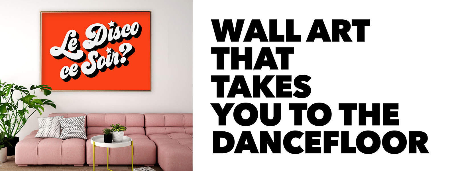Statement wall art that takes you to the dancefloor.