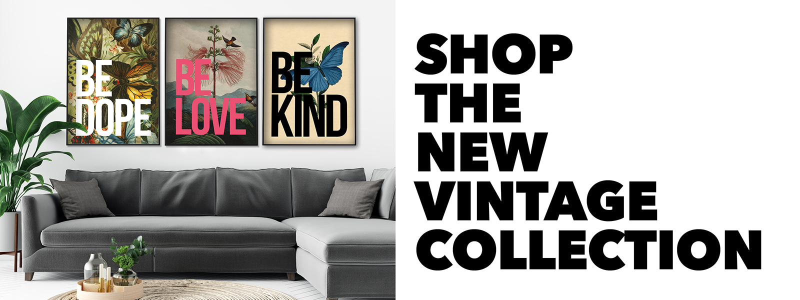 Gallery Wall Inspiration Vintage Themed Nanas of Anarchy typography Posters