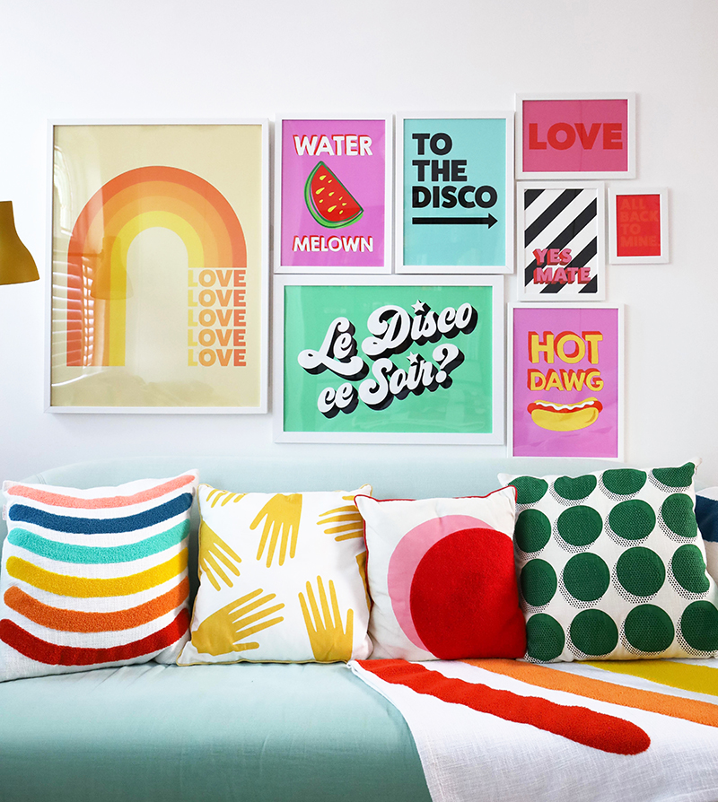 Banging Gallery Wall Styling from our Favourite Colour queen Little Big Bell