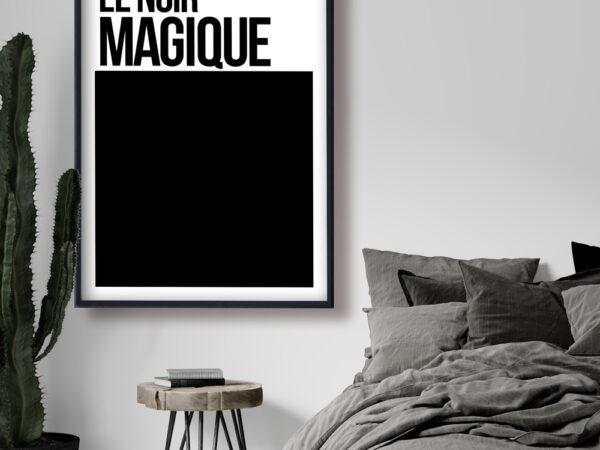 Le Noir Magique typography art poster