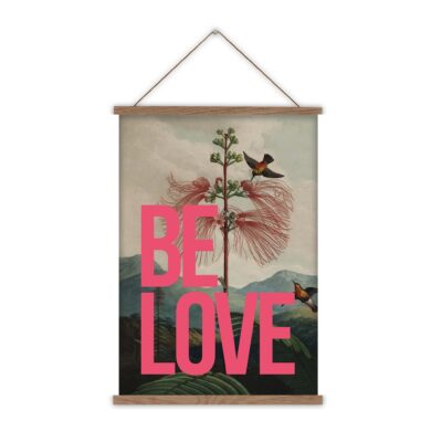 BE LOVE CANVAS WALL CHART